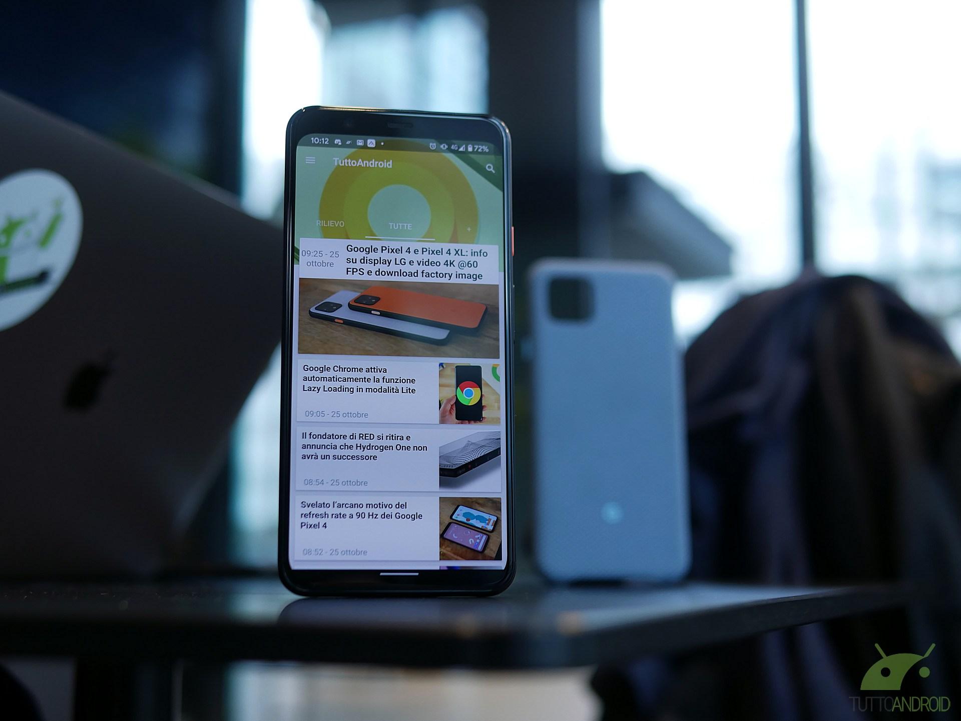 Il noioso sfarfallio al display di Google Pixel 4 ha una sol