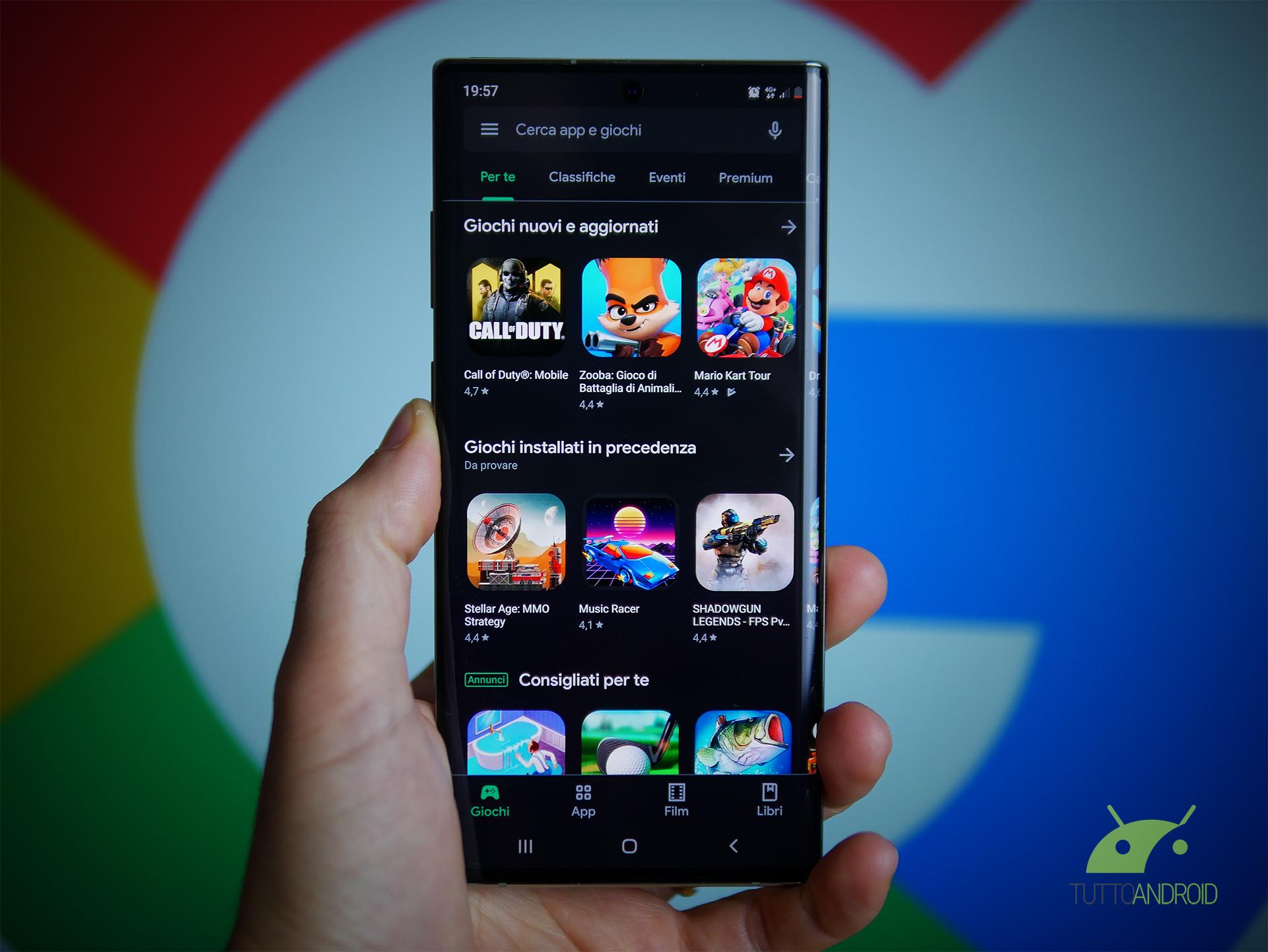 Non trovate un'app o un gioco sul Play Store? Potrebbe esser