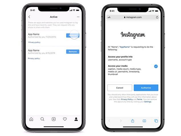 instagram controllo privacy app di terze parti