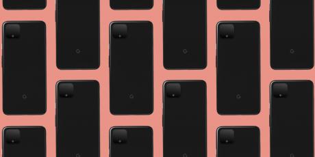 Pixel 4 black orange pattern