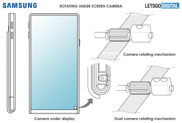 samsung display scorrevole fotocamera nascosta