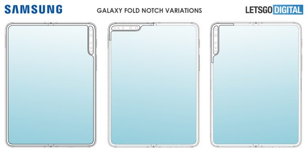 samsung galaxy fold notch verticale brevetto