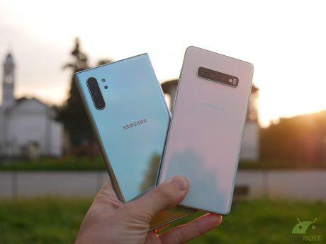 Samsung Galaxy Note 10+ e Samsung Galaxy S10+