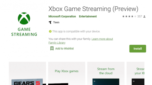 xbox console streaming preview android