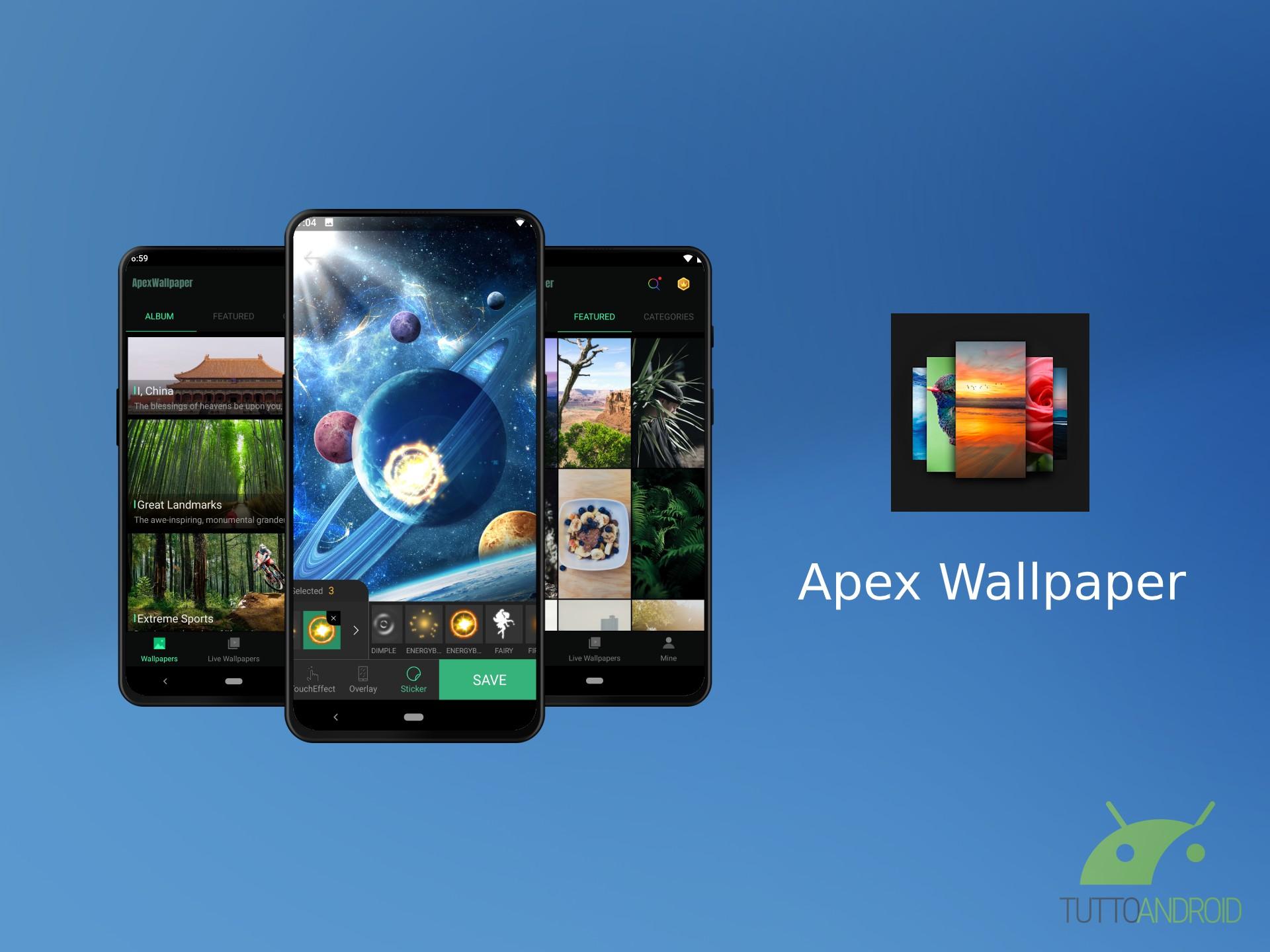 Apex Wallpaper offre oltre 1000 sfondi gratis con la possibi