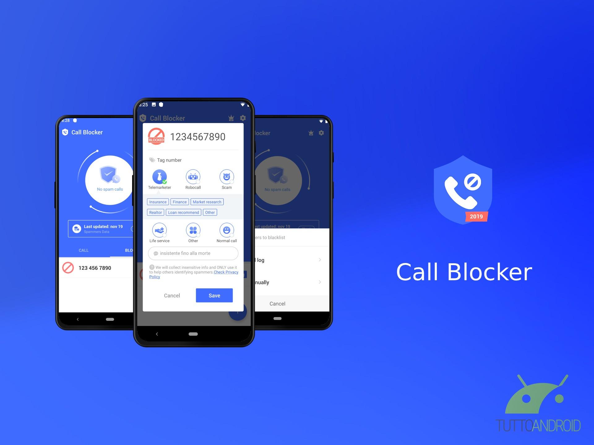 Call Blocker blocca le chiamate indesiderate tramite funzion