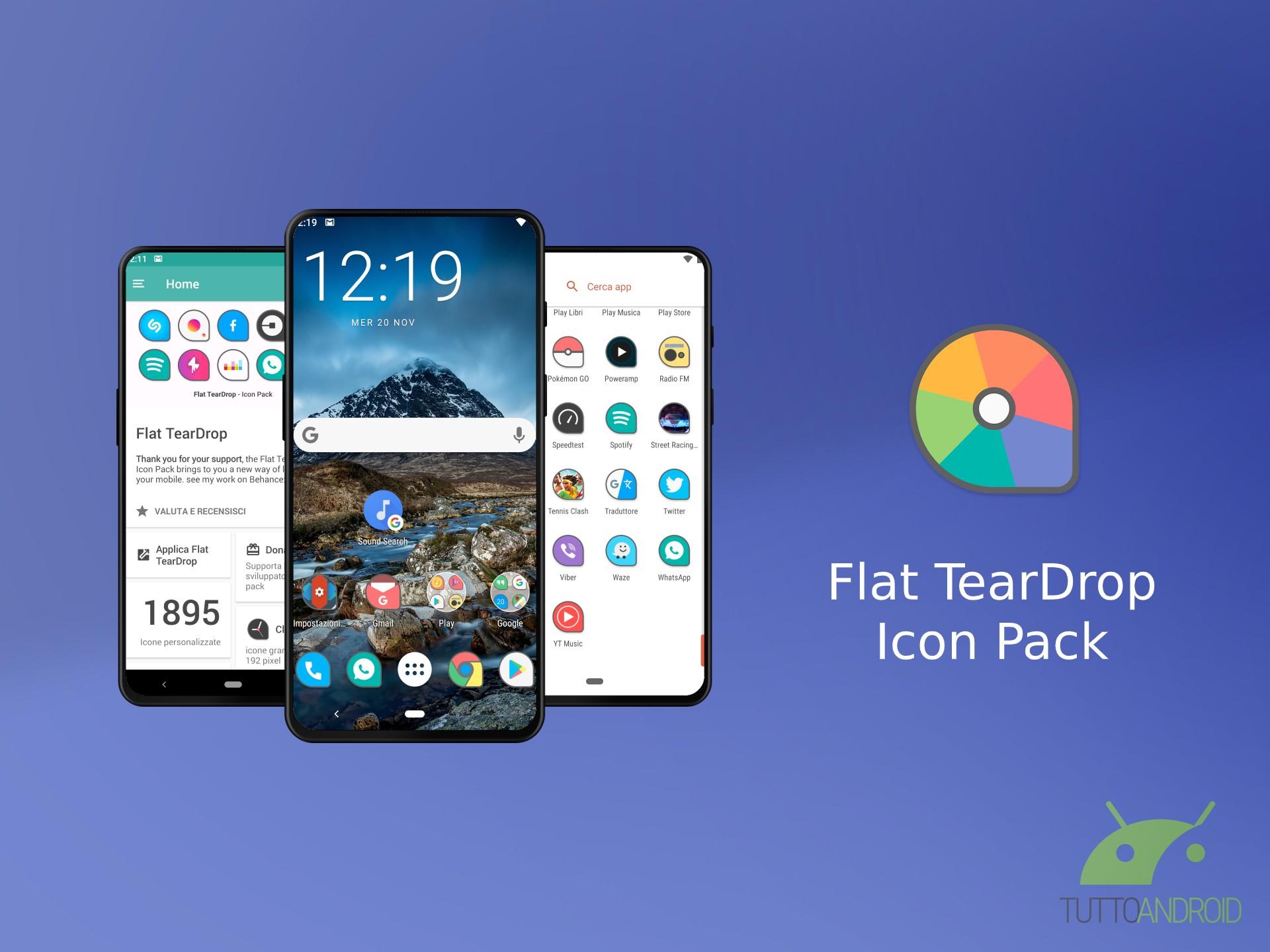 Flat TearDrop mette a disposizione oltre 1800 icone minimali