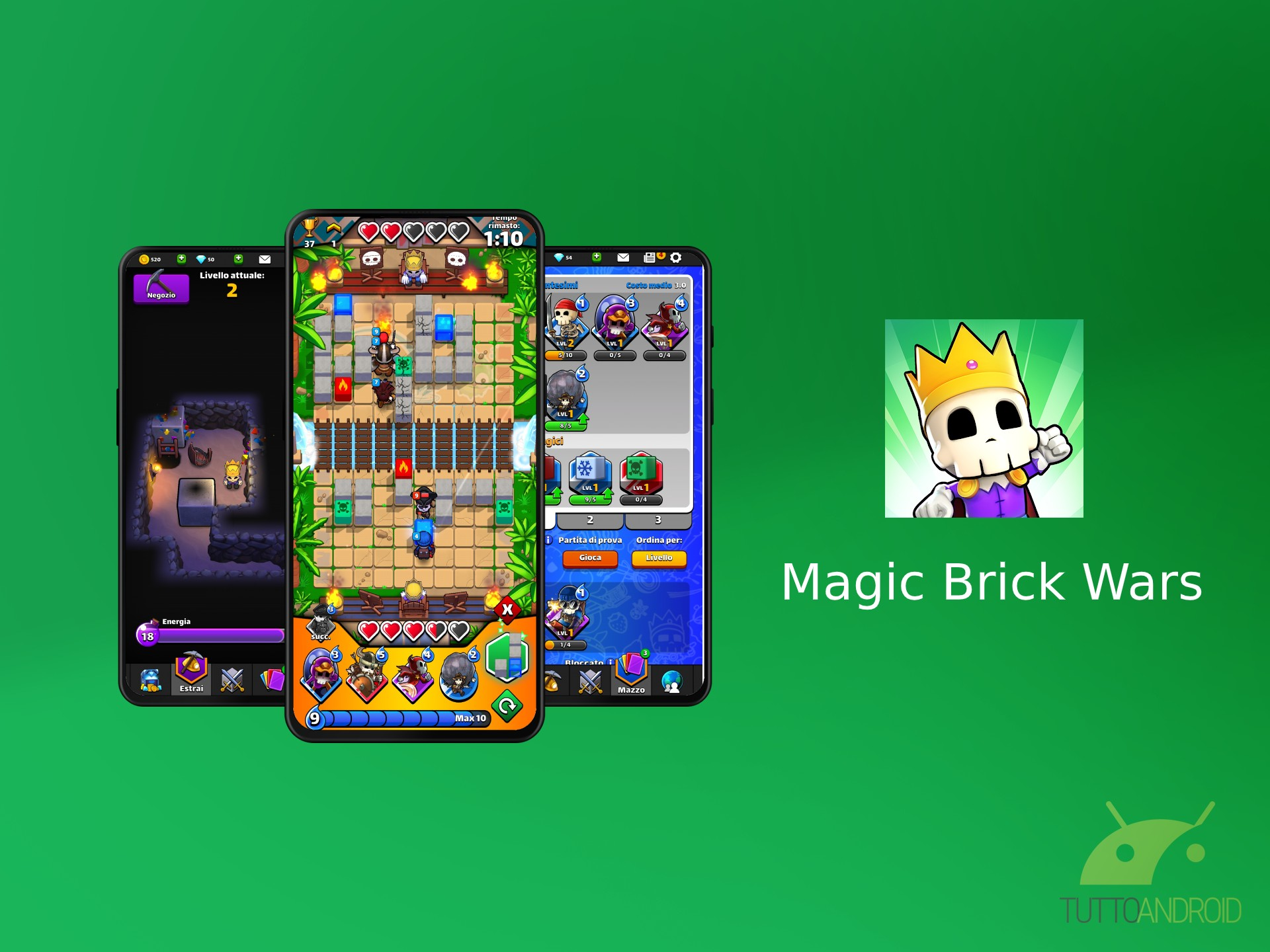 Magic Brick Wars aggiunge varianti entusiasmanti al gameplay