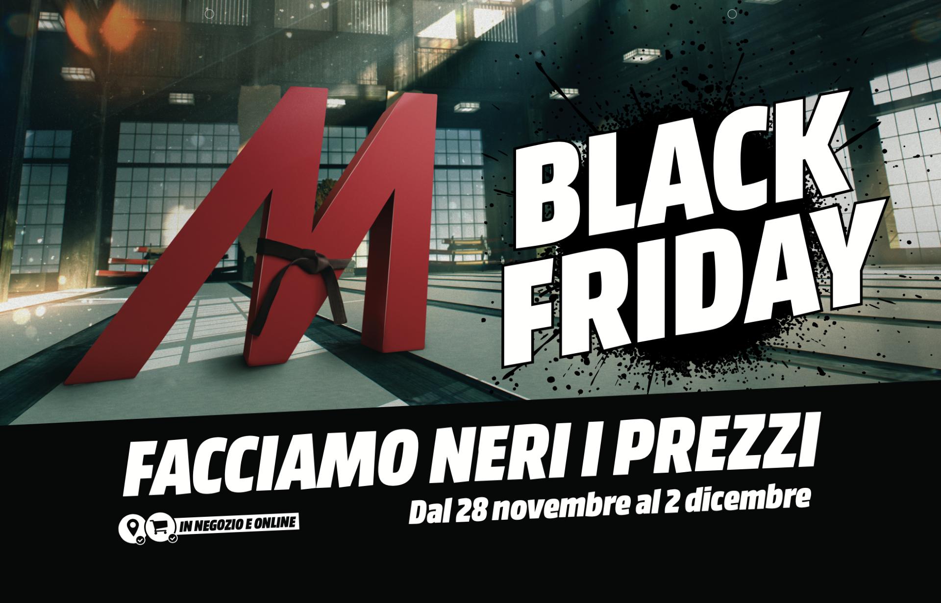 Il Black Friday di MediaWorld si scatenerà già a partire da