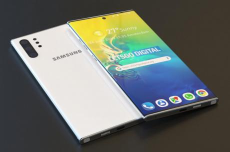 Samsung Galaxy Note 10 Lite render lgd