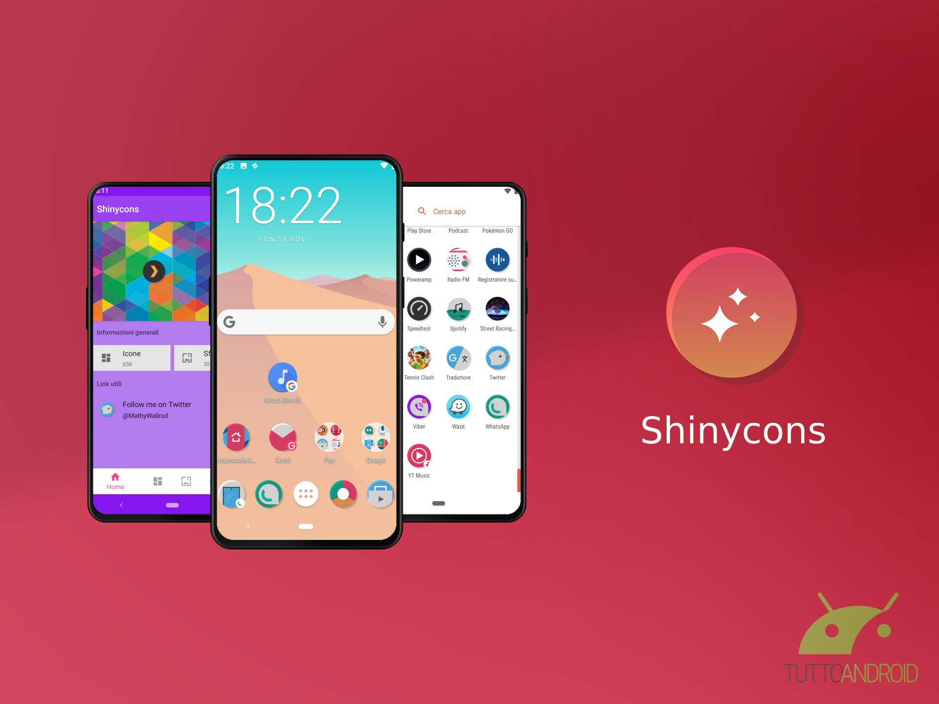Shinycons è un'icon pack che dà un tocco minimale allo smart