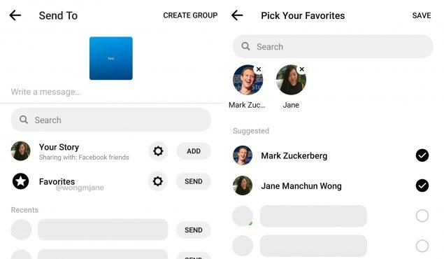 facebook messenger favorite sviluppo