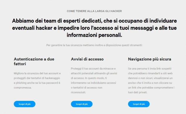 facebook messenger privacy sicurezza hub