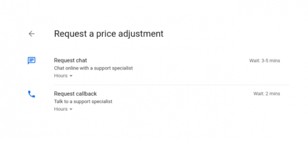 google store rimborso credito differenza prezzo