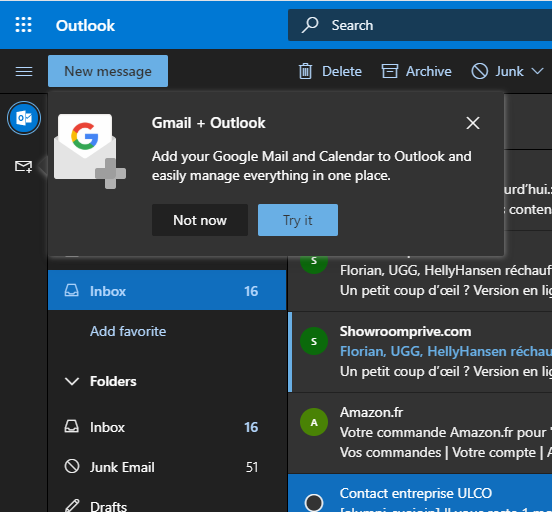 microsoft outlook web google gmail drive calendar integrazione