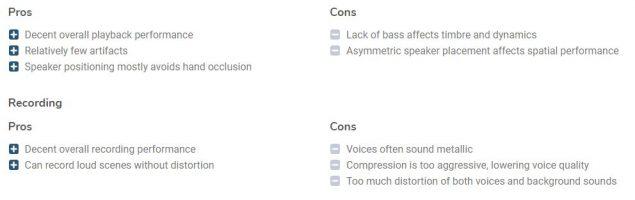 oneplus 7 pro dxomark test audio