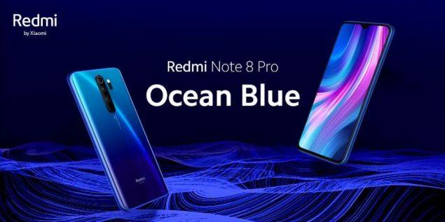 redmi note 8 pro ocean blue annunciato