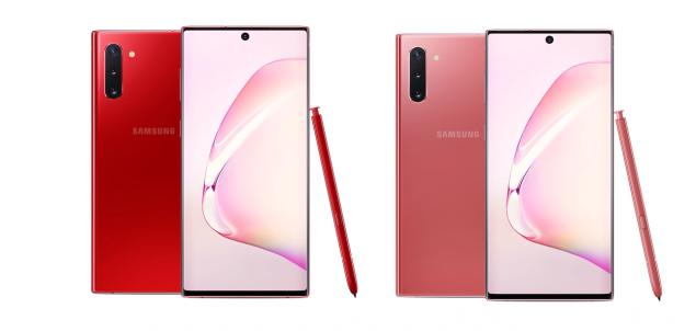 samsung galaxy note 10 aura pink red colorazioni
