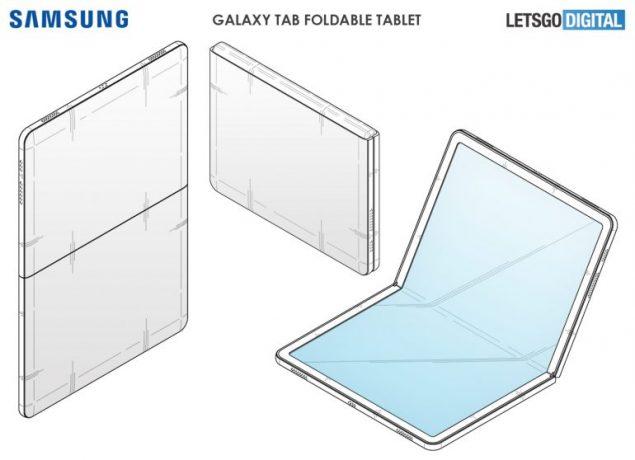 samsung galaxy tab fold brevetto
