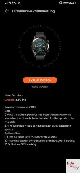 samsung galaxy watch active 2 huawei watch gt 2 aggiornamento