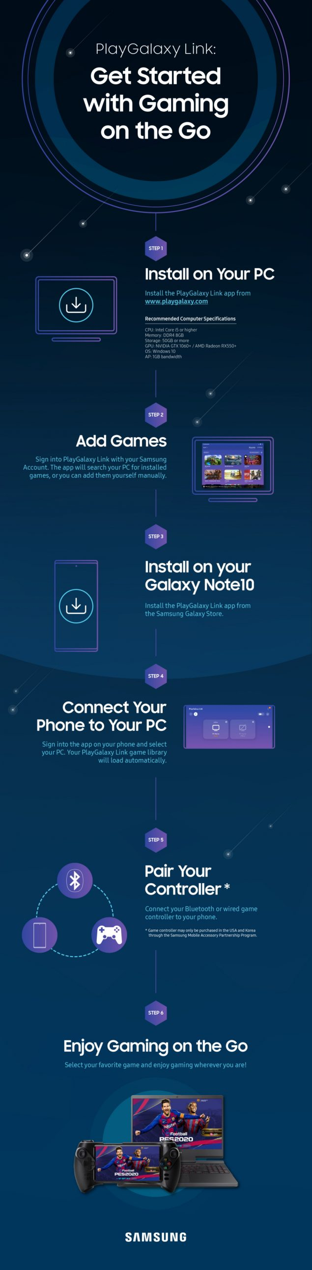samsung playgalaxy link galaxy s9 note 9 a90 fold beta