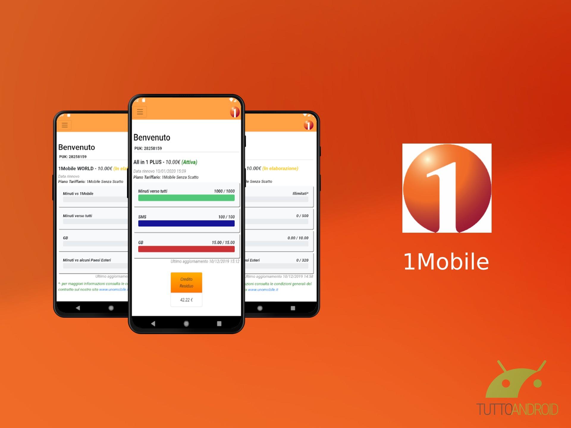 VoLTE e 60 GB a 5,99 euro al mese su rete Vodafone con 1Mobile