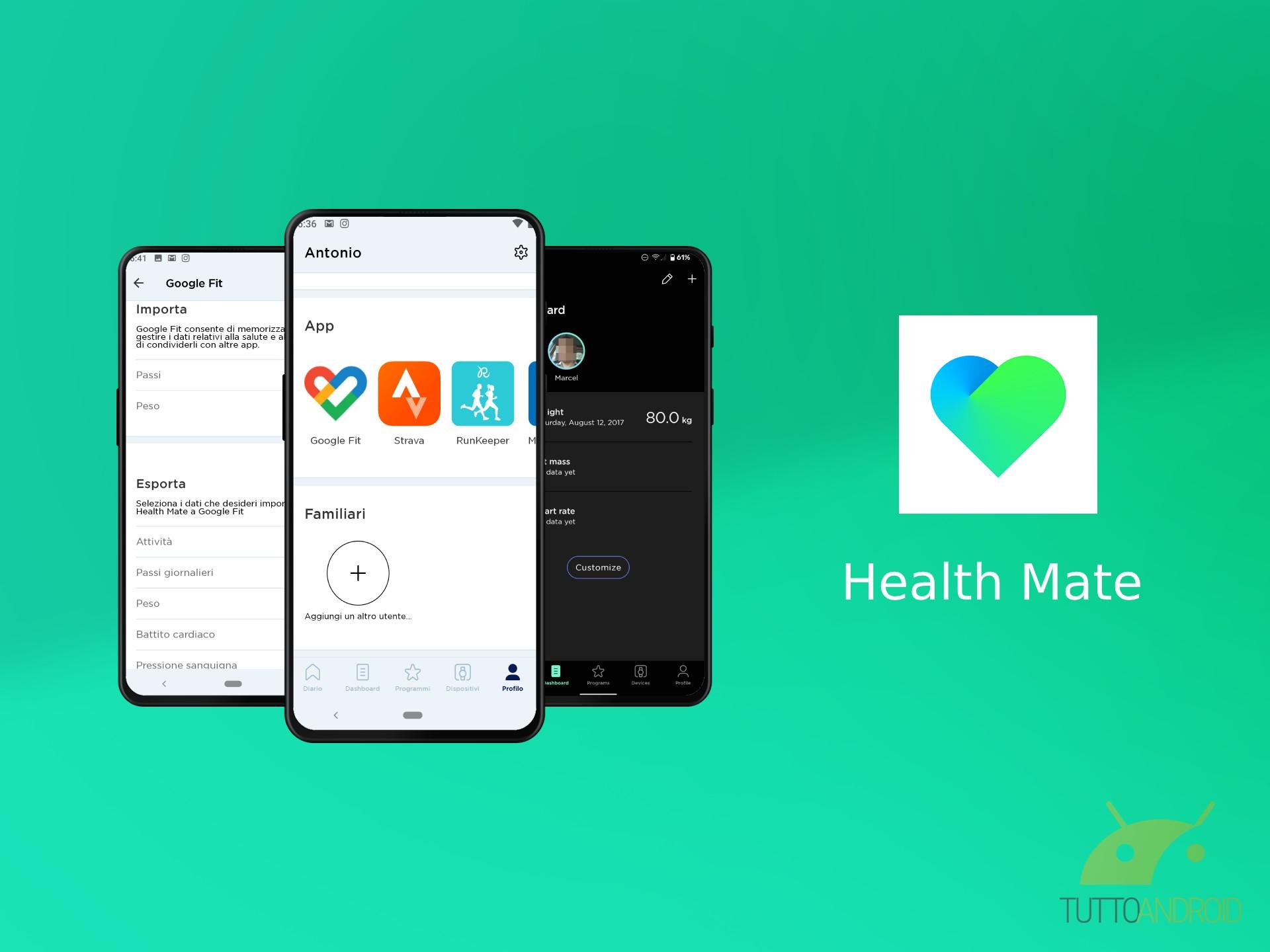 L'app Health Mate ottiene la modalità scura e la sincronizza