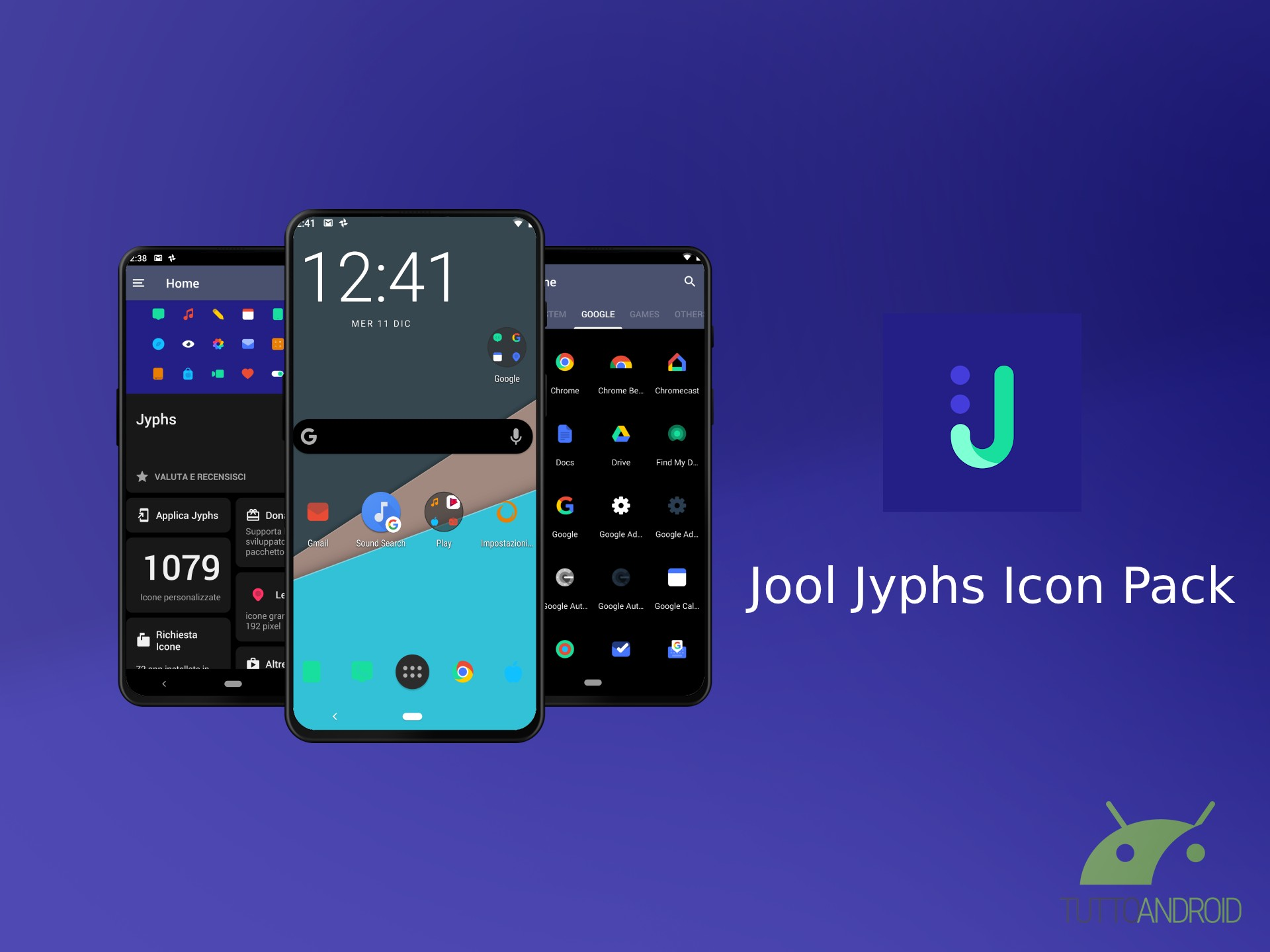 Jool Jyphs Icon Pack mette a disposizione un migliaio di ico