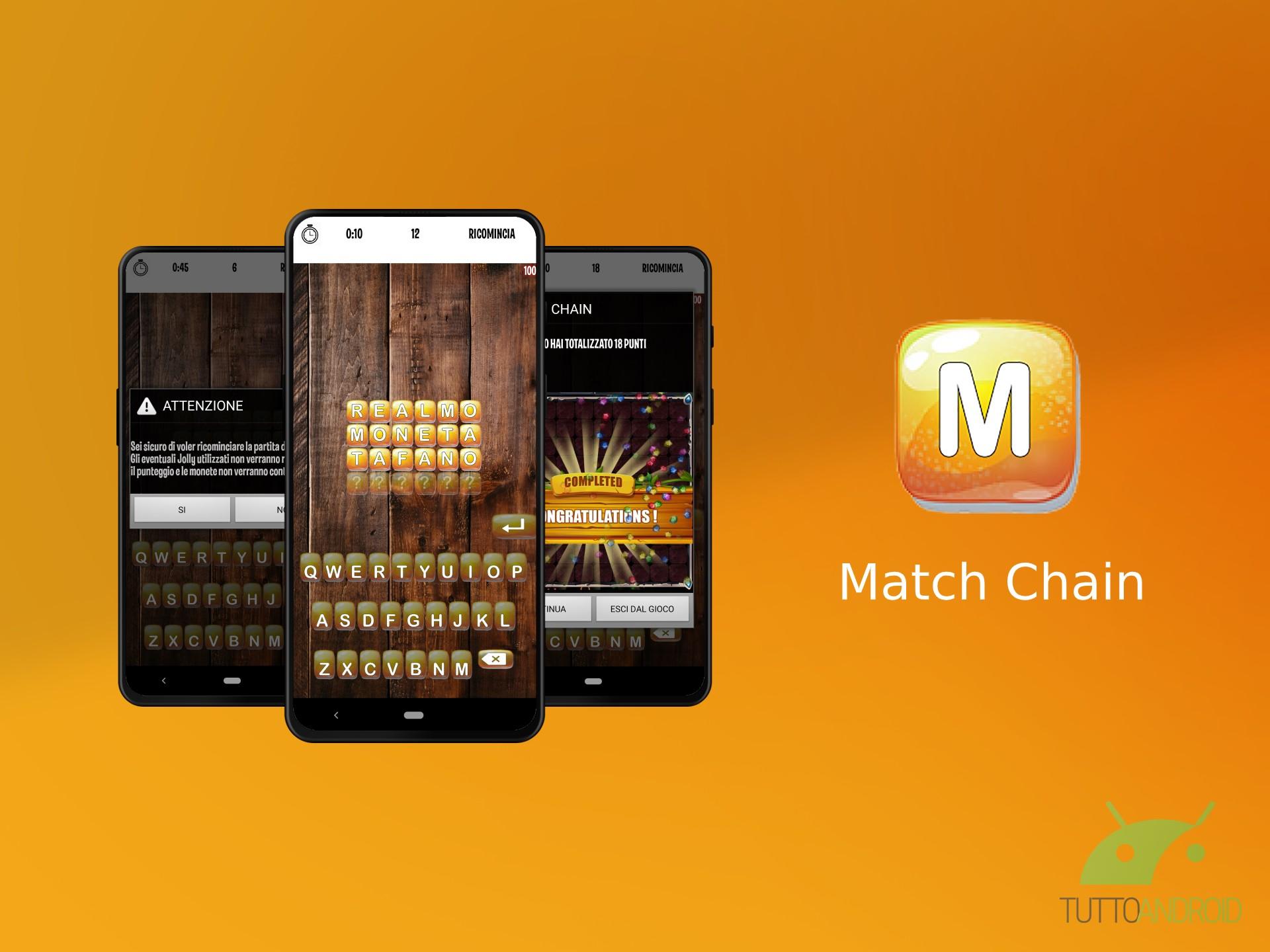 Match Chain è un semplice gioco di parole per tenere allenat
