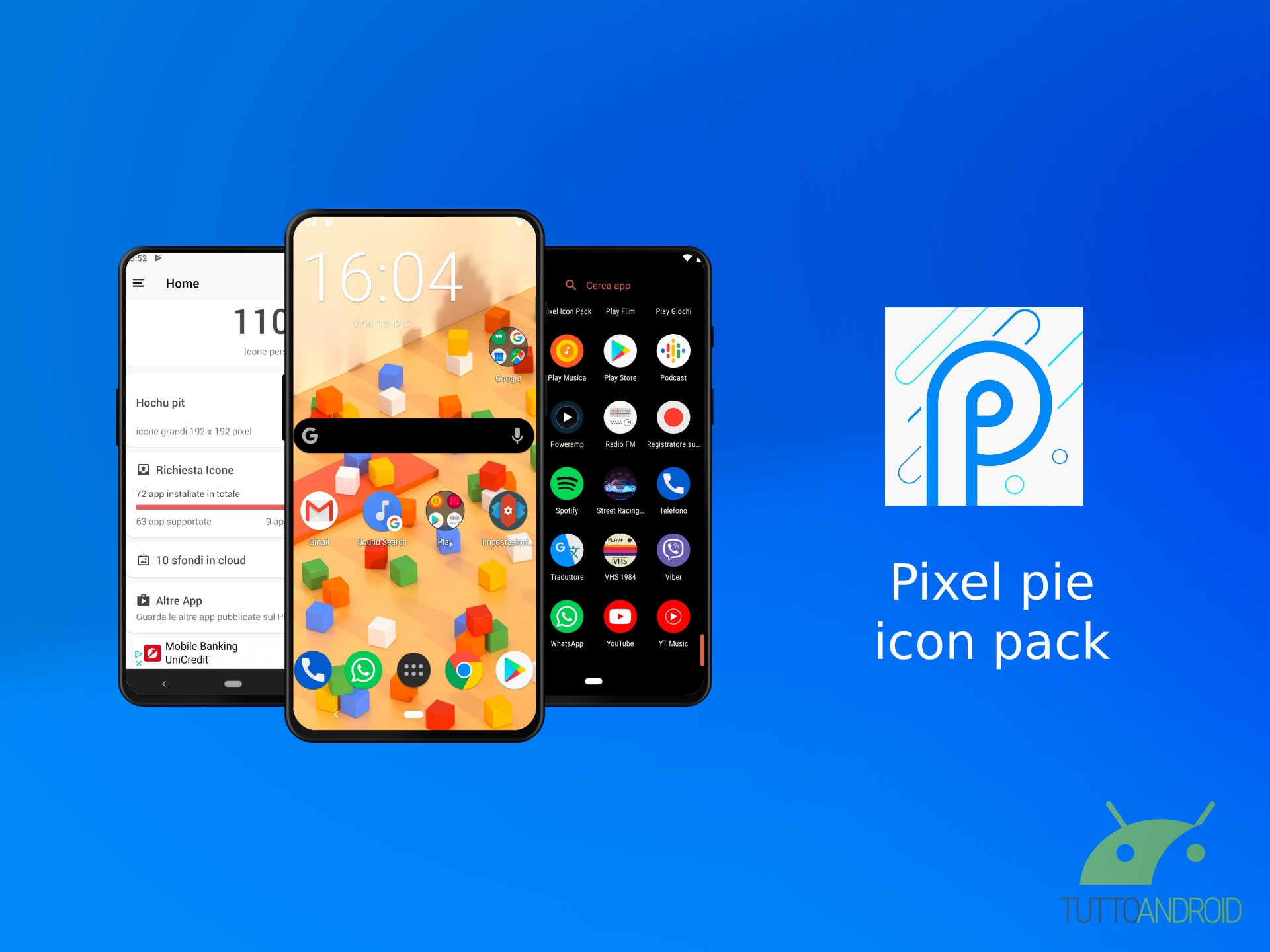 Pixel pie icon pack offre oltre 11.000 icone in stile Google