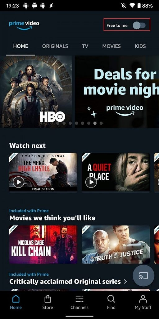 amazon prime video top actors free to me aggiornamento