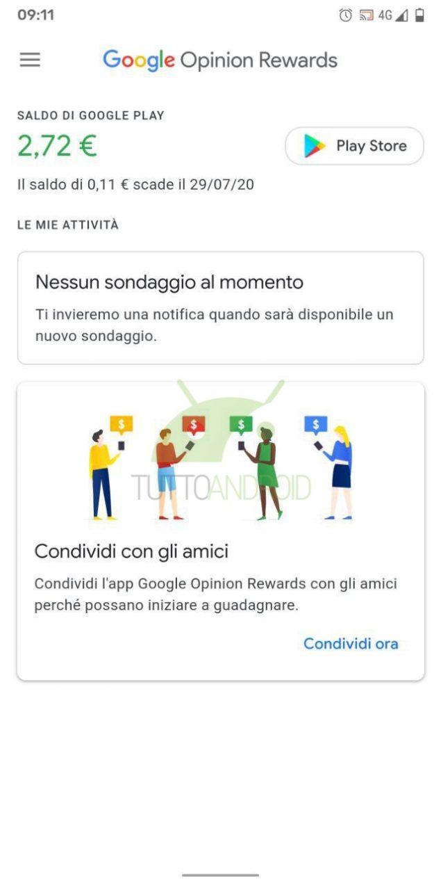 google opinion rewards credito data di scadenza