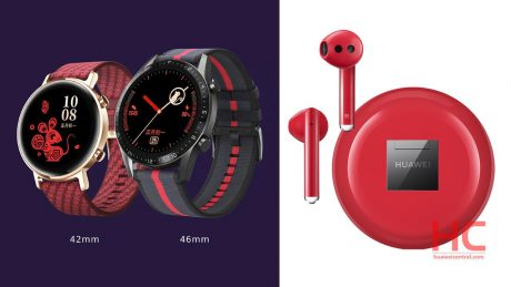 Huawei watchgt2 new freebuds3 red img 1