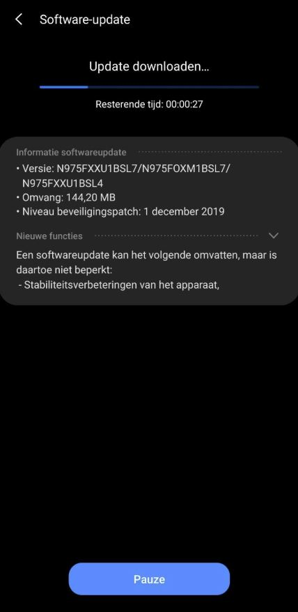 samsung galaxy note 10 10 plus android 10 one ui 2.0 rollout