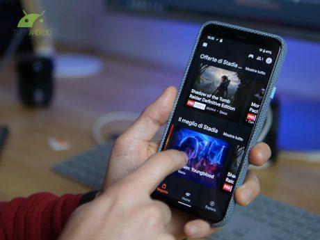 Google Stadia su smartphone Android