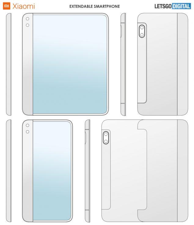xiaomi smartphone display retrattile brevetto