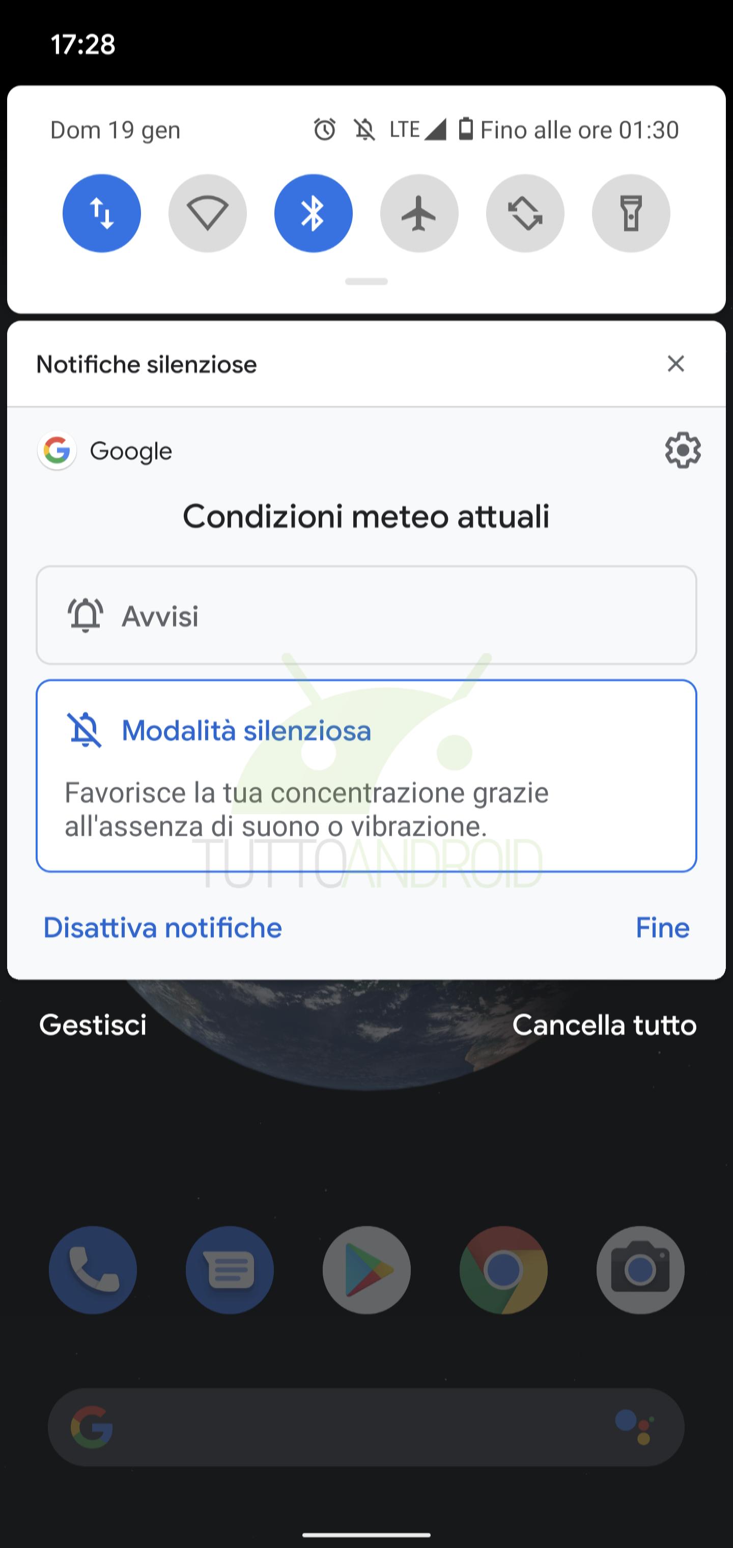 gestione delle notifiche Android 10