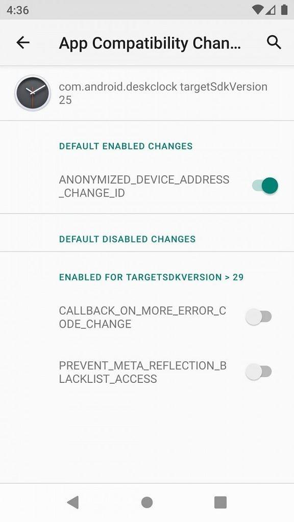 android 11 compatibilità app opzioni sviluppatore