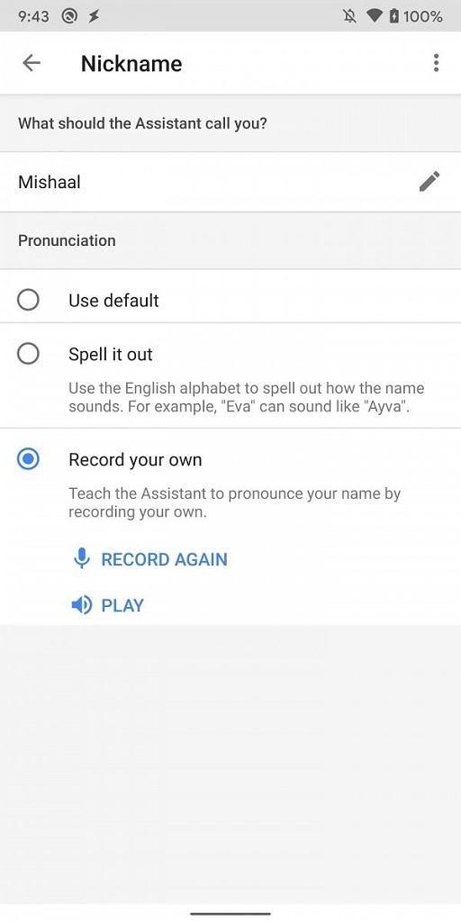 app google assistant pronuncia nomi contatti