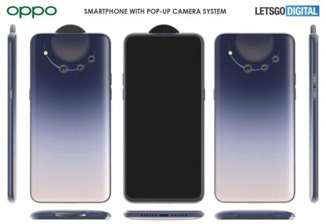 oppo smartphone fotocamera pop-up brevetti