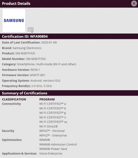 samsung galaxy m30s lg g8 thinq android 10