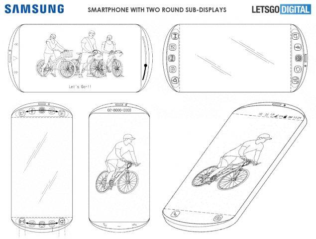 samsung smartphone schermo rotondo brevetto