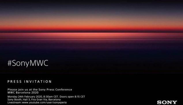 sony mwc 2020 evento