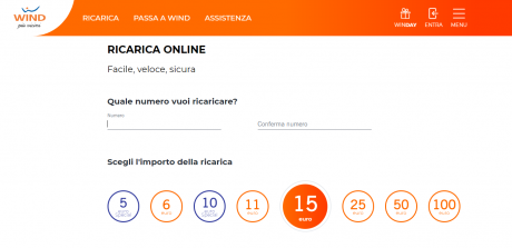 wind ricarica 6 euro