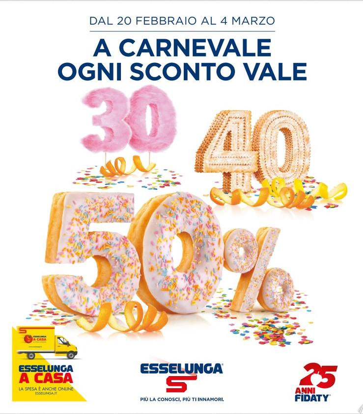 volantino Esselunga Carnevale 2020