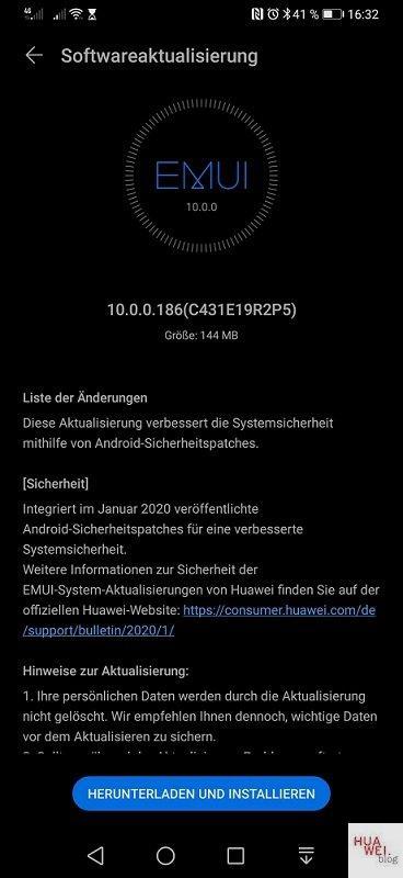 aggiornamento di gennaio Huawei P30