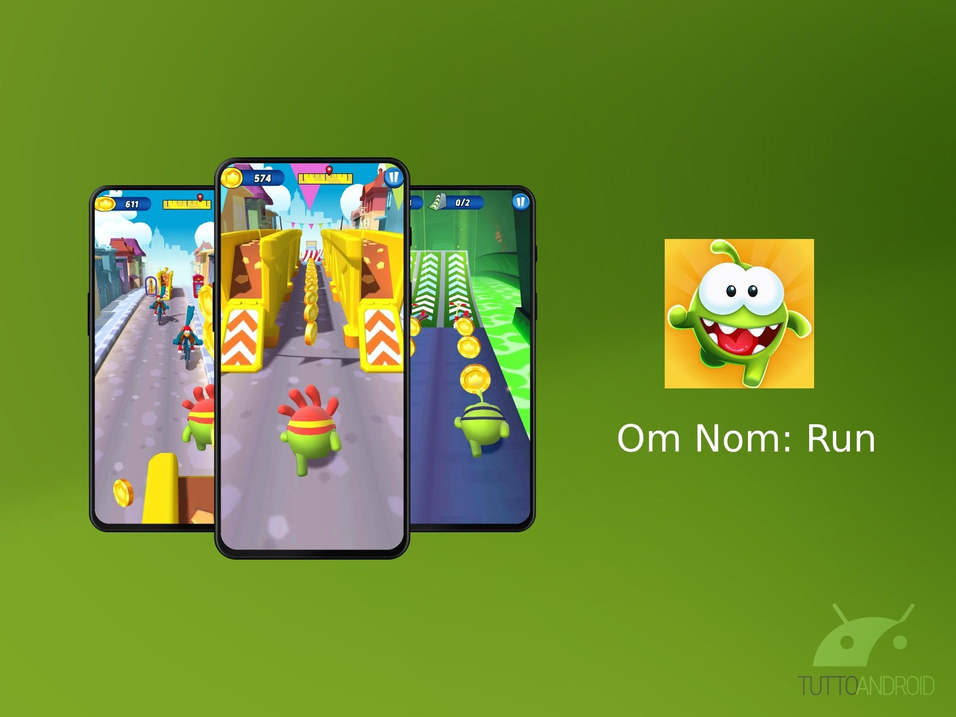 Om Nom: Run è il nuovo endless runner dei creatori di Cut th