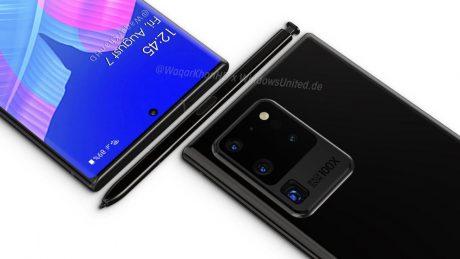 possibile design di Samsung Galaxy Note 20