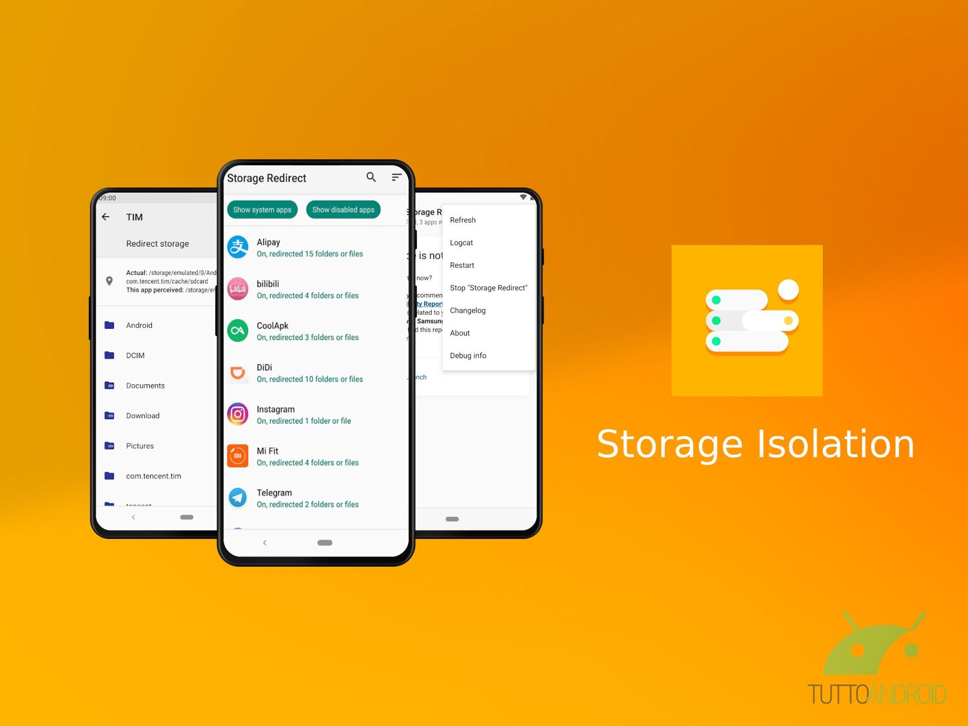 Storage Isolation permette di isolare lo spazio di archiviaz