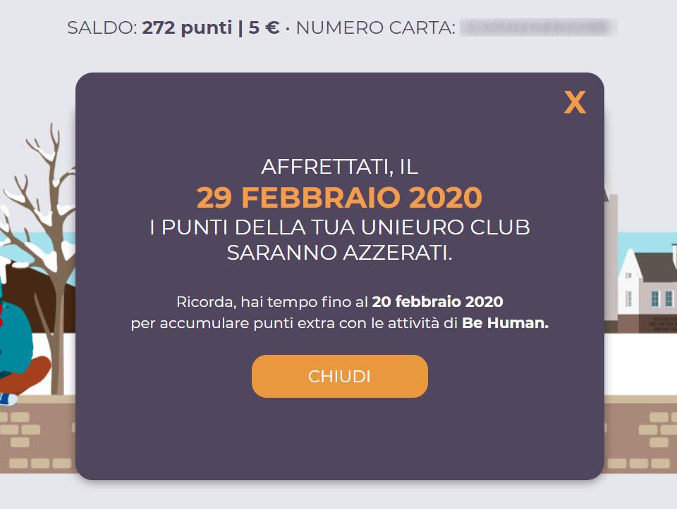 scadenza punti Unieuro Club